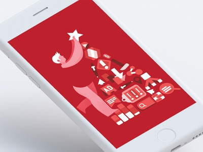WebMaster's Christmas Tree character design holiday card e-card vector illustration vector christmas christmas card webmaster graphic design drawing illustration