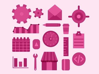 Webmaster Icon Set developer developement code gears identity iconography tools graph icon set webmaster icon icons illustration vector design