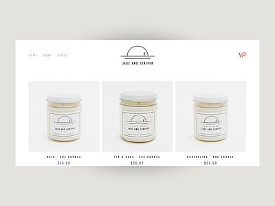 Jade and Juniper Goods ui ux graphic design product design web design art direction packaging print branding