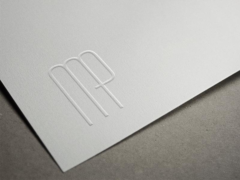 MP Monogram branding identity system lettermark letterpress logo monogram logo monogram print wedding typeface typography type