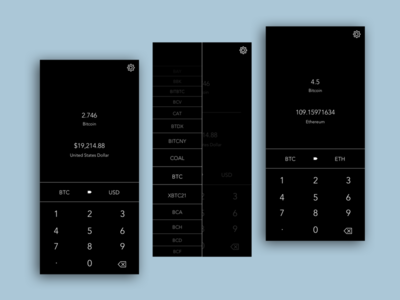 Calculator - Daily UI 004 crytocurrency daily ui 004 ui calculator daily ui dailyui004