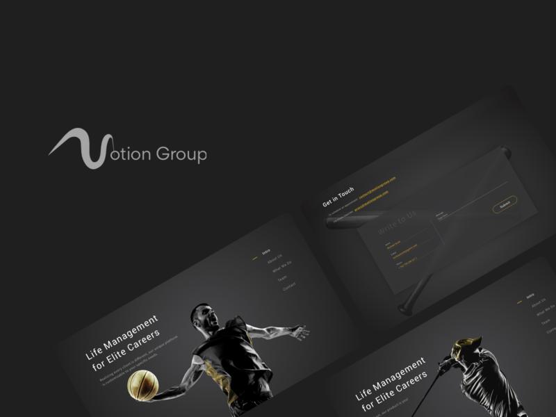 Sports Management Website sports dark ui desktop gold dark theme ux  ui webdesign
