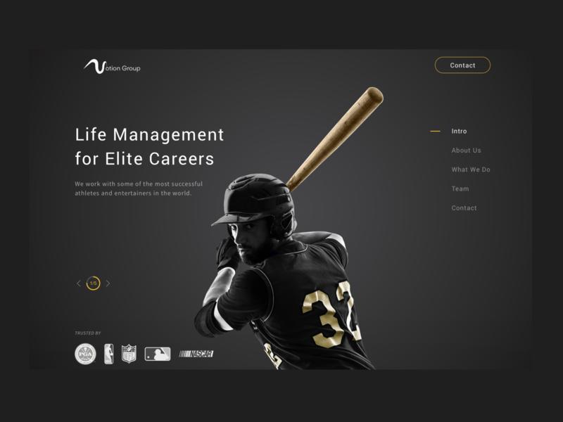 Sports Management Website sports web design dark ui ui  ux design