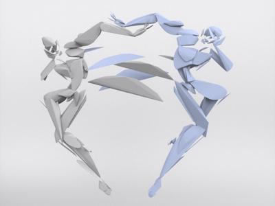 Dancer duo - VR sculpture series