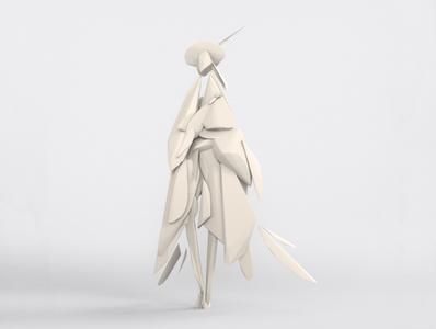 Lady - VR sculpture series vr 2020 3d artist 3d illustration poster artwork fashion 3d art 3d models 3d modelling