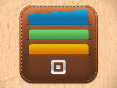 Card Case App Icon leather cardcase square appicon