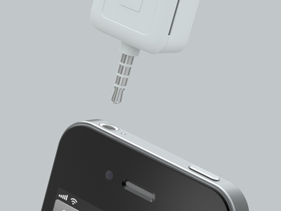 Square Card Reader + iPhone 4S cinema4d square cardreader 3d