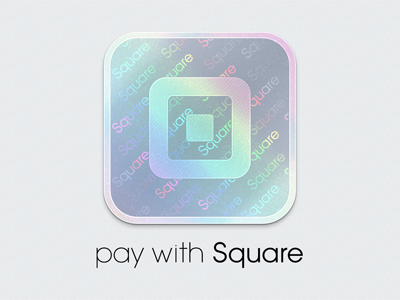 Pay with Square Branding paywithsquare square hologram icon