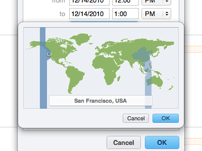 Me.com Time Zone Picker me.com mobileme timezone