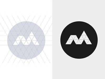 Personal Branding v m brand logo design stamp design process identity logo
