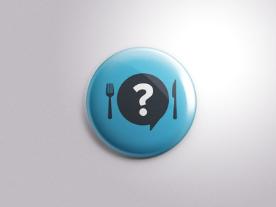 Who is your lunch buddy?! utensils food restaurant surprise identity grid lunch buddy vector pin app logo