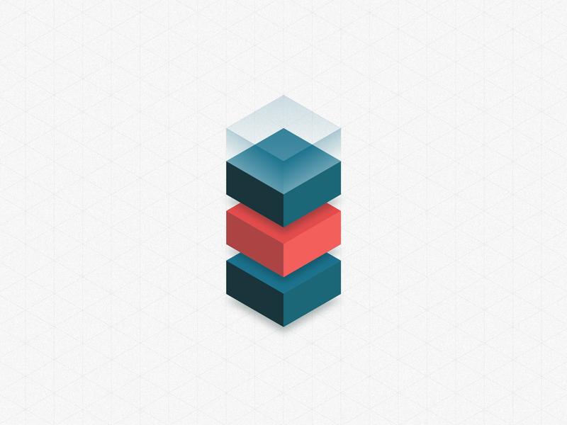 Isometric cube grid layout glass cubes illustration 3d isometric
