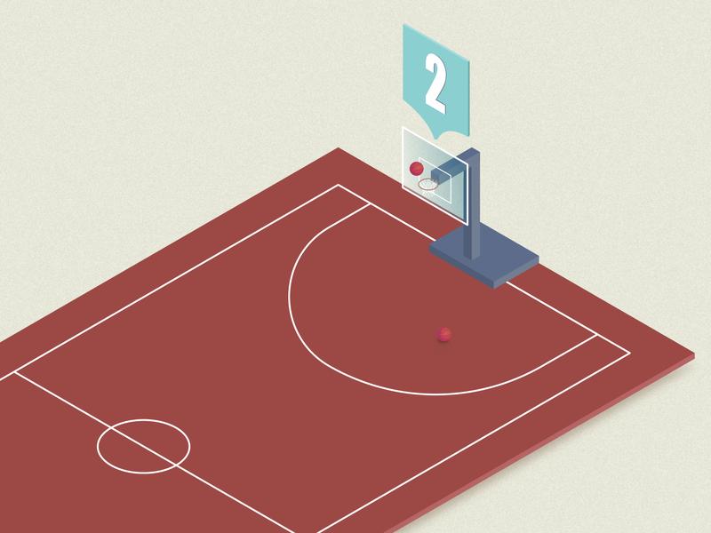 Dribbble Invite 2x follow net illustration court basketball 2x isometric score dribbble invite