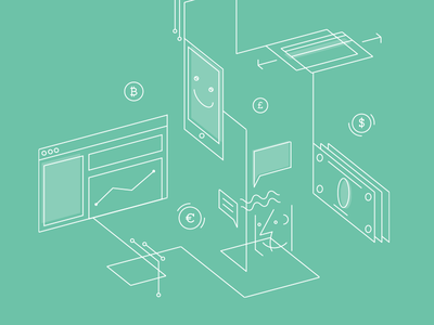 Support Articles line icon isometric support payments illustration braintree