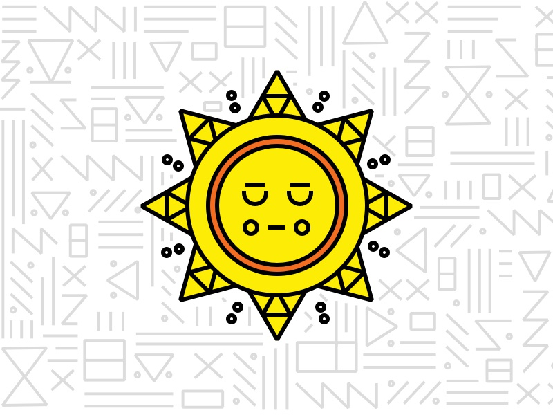 Braintree Latinx Event pattern sun illustration geometric latinx braintree