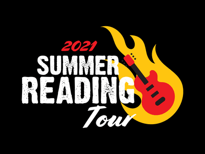 Summer Reading Tour 2021 rocknroll summer library graphic design library