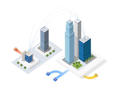 City business center illustration