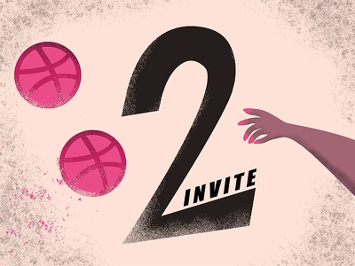 Invite Giveaway designer waiting illustraion two invites invite giveaway invites invite dribbble invite dribbble