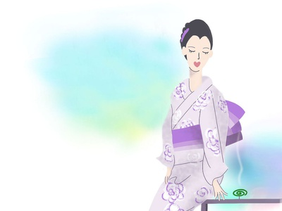 Summer is soon/01 woman illustration illustration kimono japan summer