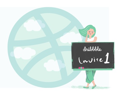 Invite giveaway! girl illustraion invite dribbble invite designer invite invite giveaway