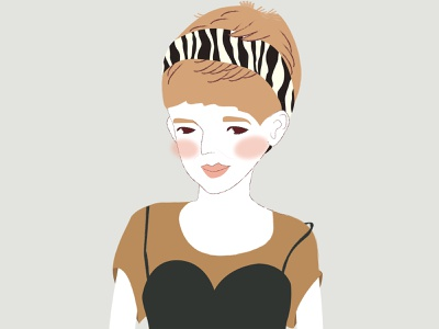 Friday challenge blown shorthair girlillustration girl illustration