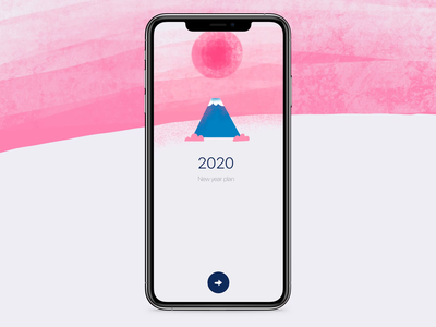 New year plan App new year 2020 2020 animalillustration interaction app design new plan new year mobile ui design animation illustration