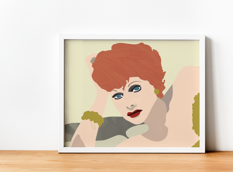 I Love Lucy illustration graphic design design