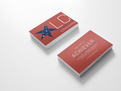 LC Strengths Buisness Card logo typography graphic design design