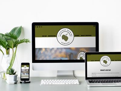 Pitchfork Brewing Company - Website Redesign Prototype web branding logo design graphic design