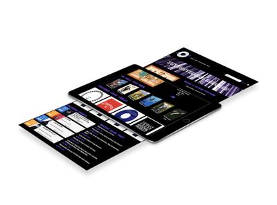 Interstellar Records - Fictional Website Design web branding design graphic design