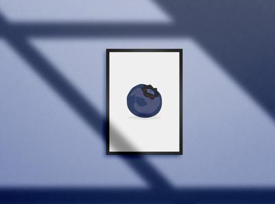 B is for Blueberry adobe photoshop adobe illustrator illustration graphic design