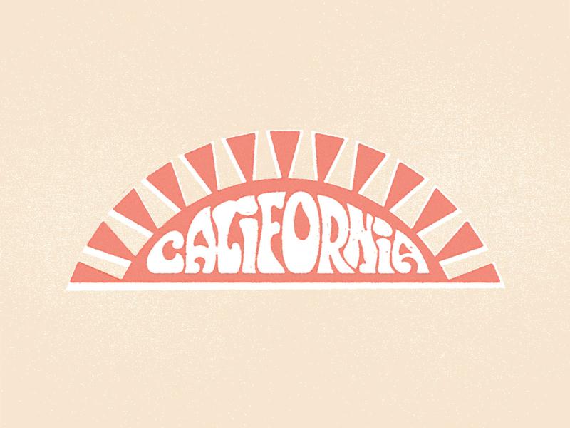 California Sun hippie california sun lettering type