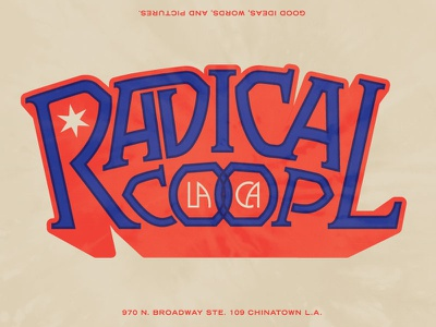 Radco Lettering psychedelic tie dye lettering 1970s