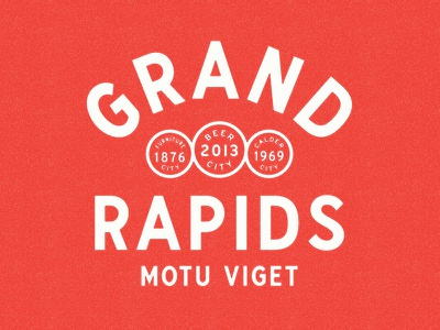 Grand Rapids Lockup seal nickname badge type lockup grand rapids michigan