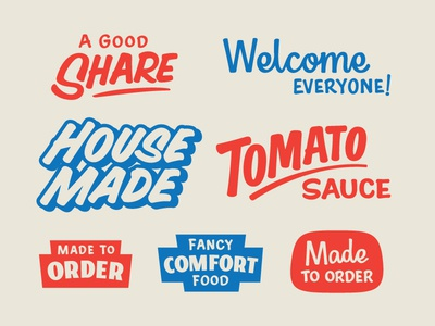 Restaurant Casual paper sign script casual lettering brush sign painter