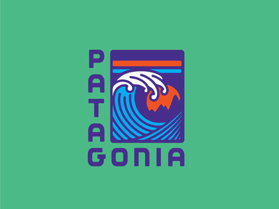 Fitz Roy Wave apparel wave skyline sunset mountains logo patagonia