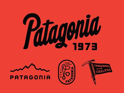 Patagonia spring/summer 2017 graphics lettering script lockup badge carabiner climbing patagonia ice axe