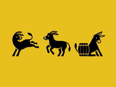 Prospectors Donkeys animal icon donkey illustration
