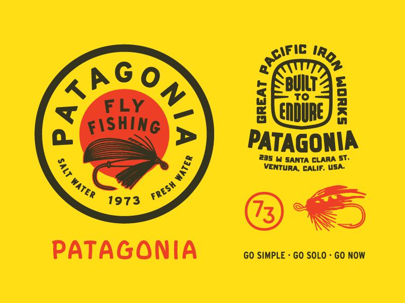 Patagonia Fly Fishing apparel illustration lettering patagonia fly fishing
