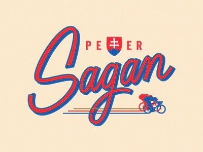 Triple World Champion world champion peter sagan bike lettering logo script cycling