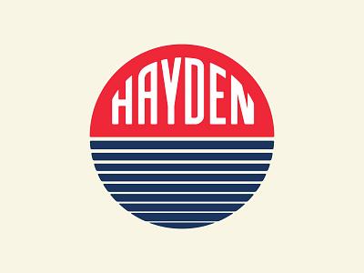 Hayden ocean sunrise logo