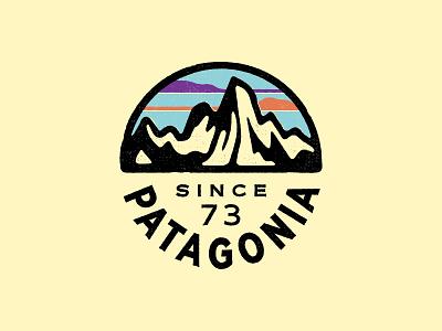 Patagonia Fitz Roy circle badge icon badge apparel skyline outdoor mountain t-shirt patagonia