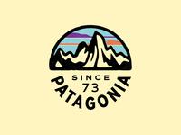 Patagonia Fitz Roy circle badge