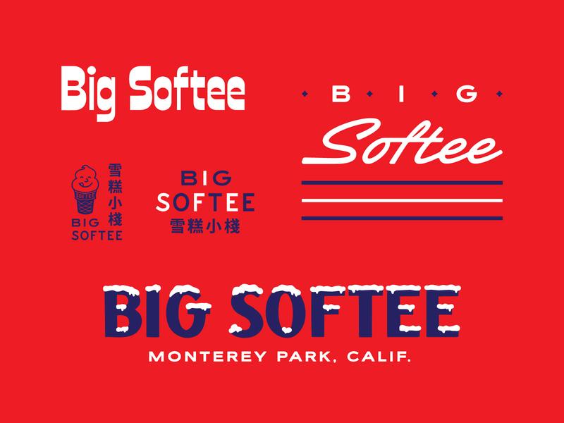 Softee Boneyard soft serve ice cream snow script
