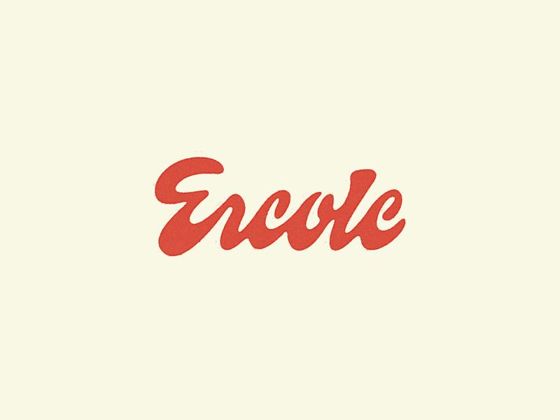 Ercole Script lettering script logo packaging wine