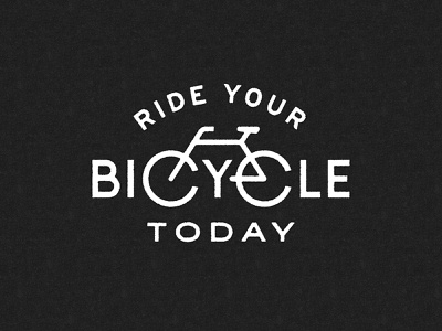 Ride your bicycle today bike app cycling illustration tagline lettering bicycle bike
