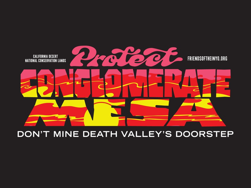 Protect Conglomerate Mesa sunsets illustration death vally enviromental desert sunset typography lettering script