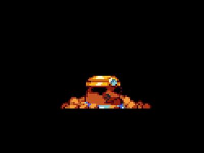 Mr. Resetti nintendo art game pixelart 2d pixel