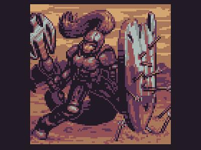 Fallen Knight indie art pixel game 2d pixelart