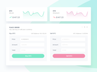 Crypto Dashboard Widgets